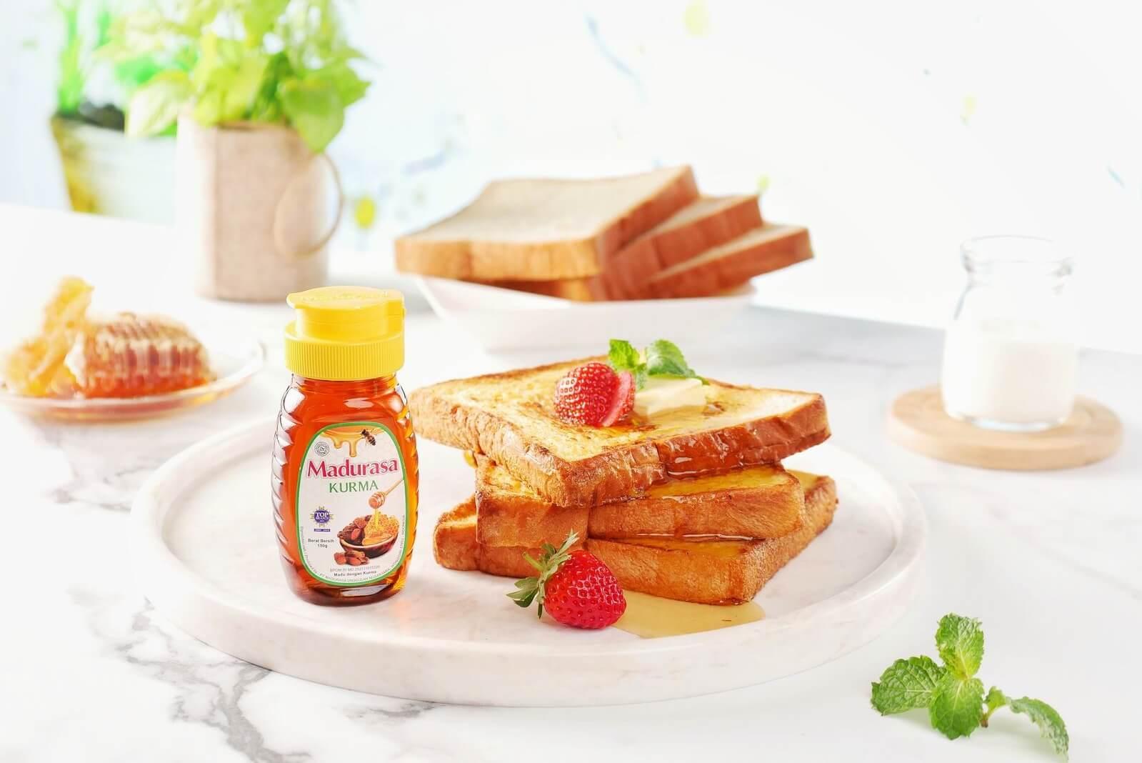 French Toast Dengan Olesan Madu Untuk Menu Sarapan